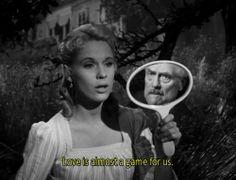 "love is almost game for us.""  Wild Strawberries (Ingmar Bergman, 1957)"