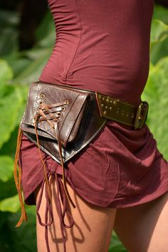 Leather Utility Hip Belt _ Claire.de.Lune BROWN _ от offrandes