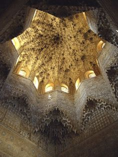 The Muqarnas Dome of the Hall of the Two Sisters in the Alhambra | Granada, Spain | breathtaking