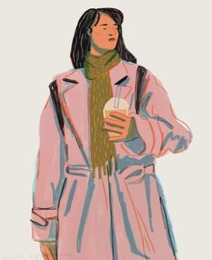 art via Haley Tippmann // I've always been really inspired by artists who use photography as a reference for their work. There's something so relatable about Haley's work that makes me feel like I've been there. Simple Illustration, Woman Illustration, Portrait Illustration, Character Inspiration, Character Design, Simple Portrait, Pictures Of People, Illustrations, Contemporary Artists