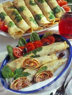 Receptek Lajos Mari konyhájából - Bolognai palacsintatekercs Waffles, Pancakes, Bologna, Bruschetta, Crepes, Fresh Rolls, Tacos, Paleo, Mexican