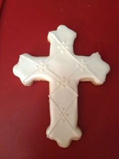 Items similar to 12 First Communion Favor / Cross Cookie Favor (large)The Sweetest Thing - Designs and Events on Etsy Baby Cookies, Baby Shower Cookies, Easter Cookies, Cupcake Cookies, Sugar Cookies, Flower Cookies, Heart Cookies, Valentine Cookies, Birthday Cookies