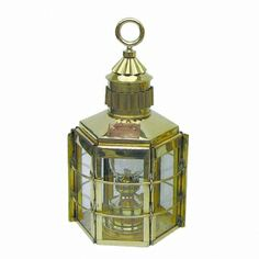 Massive Petroleum-Bateau Lampe-Bateau Lampe-Hexagonale-Laiton H 57 cm Beautiful Perfume, Messing, Perfume Bottles, Jar, Lighting, Home Decor, Brass, Products, Dekoration