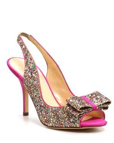 http://rstyle.me/h9txceifbe. Kate Spade Charm Glitter Pumps.