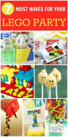 7 things you must have for your Lego birthday party! See more party ideas at CatchMyParty.com. #legos #boybirthday #partyideas
