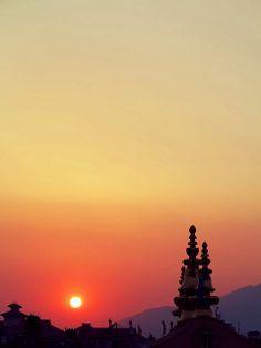 Sunrise in Kathmandu, Nepal. #Kathmandu,#Nepal