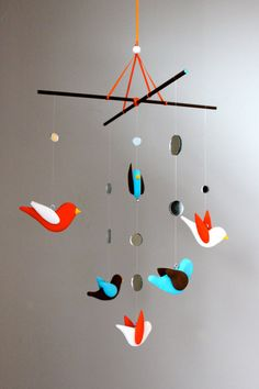 Bird Baby Crib Mobile - Nursery Decor