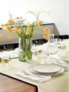Give an ordinary tablecloth (or runner) the five-star treatment by adding an elegant edge.