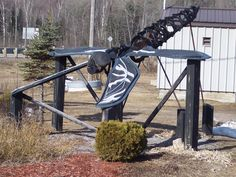 The giant Dragonfly sculpture in Cardiff Ontario - Check it out.
