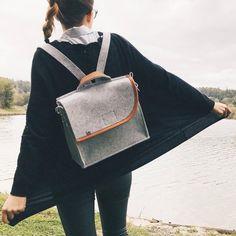 Womens backpack – leather backpack – felt backpack #backpacks #purse #travel #work #leather    -  #womensbackpackIdeas #womensbackpackRebeccaMinkoff #womensbackpackStreet Backpack Purse, Leather Backpack, Fashion Backpack, Trendy Backpacks, Kids Backpacks, Felted Slippers, Handmade Felt, Backpacker, Leather And Lace