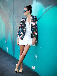 2013 Jacket:Love The Lime Light/ Tunic shirt: Zara/Espadrilles: Chanel/ Shorts: Volcom