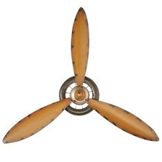 Vintage 3-Bladed Metal Propeller (Yellow) | Propellers | Propellers