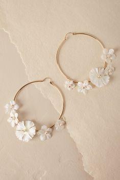Blanca Hoop Earrings from @BHLDN