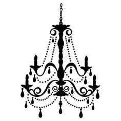 Chandelier Wall Decal ~ thinking about using wall decals in my decor for our new place