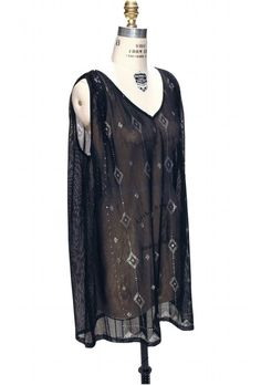 Gatsby Inspired Tunic Dress in Silver/Black | Roaring 20s & Flapper Style Tops | 1920s & Vintage Inspired | The Deco Haus