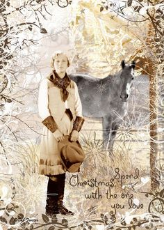 One of my first nostalgic Cowgirl Christmas Art Cards - and still one of my favorites.