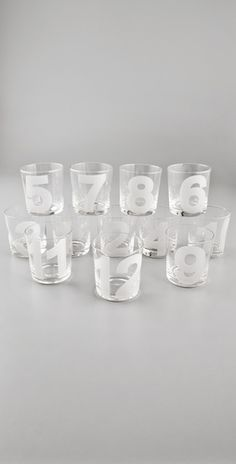 numbered tumblers, that way you can remember which cup is yours