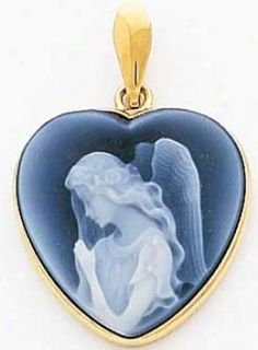 Beautiful vintage cameo in blue with an angel Vintage Cameo Jewelry, Antique Jewelry, Agate, Cameo Necklace, Love Blue, Love Symbols, Unique Necklaces, Sculpture, Heart Shapes