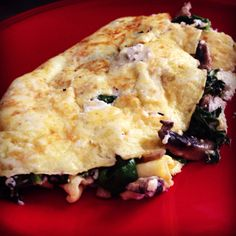 Farewell Breakfast - Two Egg Omlette with Feta Cheese, Mushrooms and Spinach - HORRAH Ricky