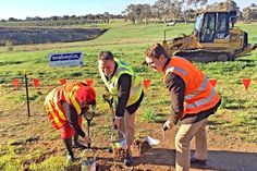 symbolic start to work on a new interchange for the South Eastern Freeway Symbols, Magic, News, Icons