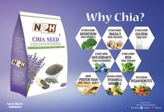 #ChiaSeeds One portion of #Chia daily contains enough #OMEGA3 ALA to help maintain normal #bloodcholesterol levels** #Suggested Use:  Sprinkle Chia Bia on your #breakfast cereal or porridge, stir it through yogurt, toss it over salad, blend it into smoothies or simply mix it with water. You Choose. These tiny, #tasteless seeds go with everything. #Source of #Protein l High in Fibre l High in #Omega 3