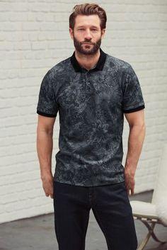 Black/Green Premium Print Poloshirt