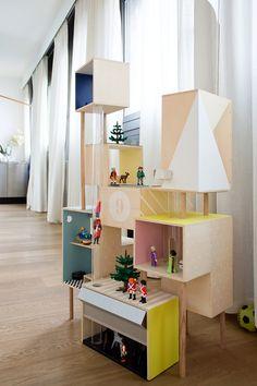 Maison de Playmobil « home made » à partir de boîtes