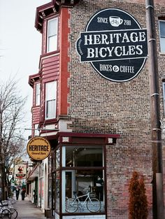 Heritage - Chicago, USA. Bicycles & coffee spot.  http://www.heritagebicycles.com