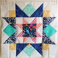 Fat Quarterly Issue 13 Design Challenge block by SewBlossomHeart, via Flickr