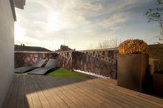 #Terraza #moderno #paisajismo via @planreforma #muebles de exterior