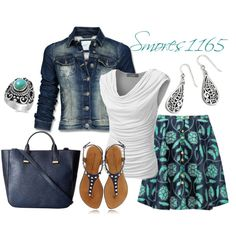 Cool Turquoise and Navy by smores1165 on Polyvore featuring J.TOMSON, Mexx, Thom Browne and French Connection