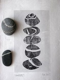 Pebble print from carolynsaxby.blogspot.com