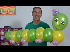 gusano con globos - globoflexia - decoracion con globos - decoracion de cumpleaños - YouTube Easy Balloon Animals, Balloon Toys, Ballon Arch, Balloon Columns, Balloon Decorations, Birthday Party Decorations, Party Themes, Fruit Animals, Butterfly Birthday Party