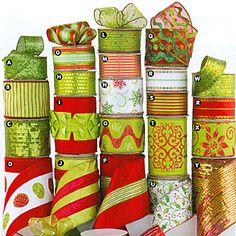apple green and red christmas ribbon | ... seasonal ribbon christmas christmas lime green christmas lime green