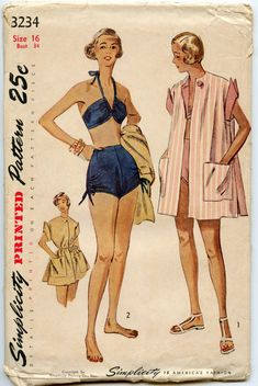 1950s Vintage Sewing Pattern Simplicity 3234 by GreyDogVintage, $55.00