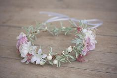 Flower head wreath head piece colorful summer flower hair