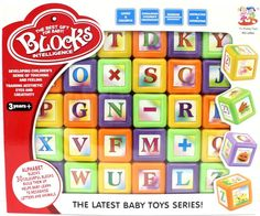 Alphabet Block Set Of  30 Colourful Plastic Picture Blocks - Numbers Counting