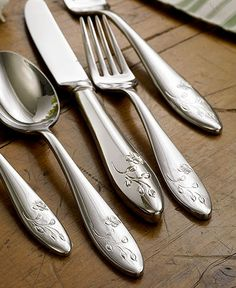 "Lenox ""Butterfly Meadow"" Stainless Flatware Collection"