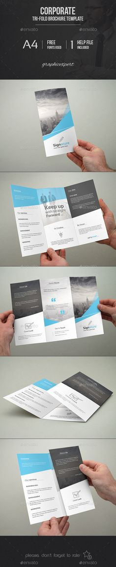 Corporate Tri-Fold Brochure Template #design Download: http://graphicriver.net/item/corporate-trifold-brochure-template/9836085?ref=ksioks