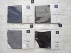 Lot 4 Gap Body Breathe Panties Shorty Thong Bikini Low RiseGray Black Blue S NWT #GapBody #Bikinis #Everyday