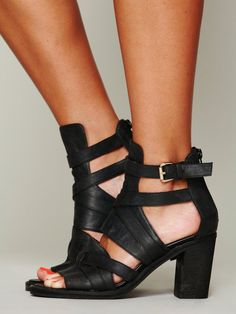 acd01d5ac33006 Asher Heel by Jeffrey Campbell x Free People Black High Heel Sandals