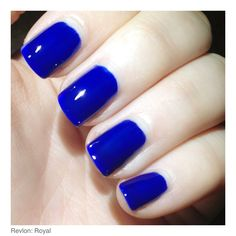 We're loving the bold blue nails in Thea J's Bloom LookBook!