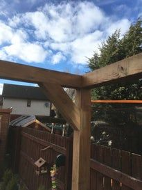 Transparent Roof Pergola on a Budget.: 16 Steps (with Pictures) Pergola Swing, Pergola With Roof, Cheap Pergola, Patio Roof, Diy Pergola, Pergola Kits, Pergola Ideas, Attached Pergola, Retractable Pergola