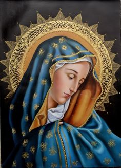 PINTURAS: VIRGENES Y ARCANGELES Divine Mother, Blessed Mother Mary, Blessed Virgin Mary, Religious Images, Religious Icons, Religious Art, Catholic Saints, Catholic Art, Virgin Mary Art