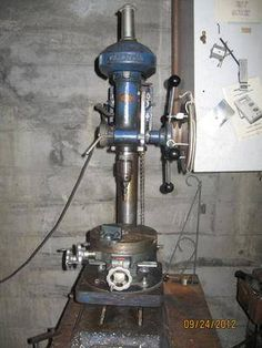 Atlas Floor Model Drill Press With Table Raising Mechanism