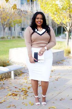 Oversized office work outfit - Plus Size Fashion - Modest Fashion Plus Size Work, Look Plus Size, Plus Size Jeans, Office Wear Plus Size, Curvy Girl Fashion, Modest Fashion, Look Fashion, Womens Fashion, Fashion Black
