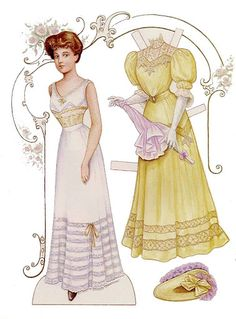 CARETHA A 1907 BRIDE PAPER DOLL