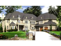 European House Plan with 7620 Square Feet and 8 Bedrooms from Dream Home Source | House Plan Code DHSW74371