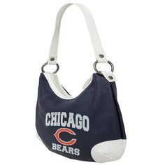 Chicago Bears Ladies Huddle Hobo Purse  - Navy Blue/White