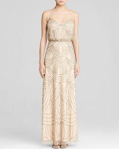 58ed81cf703e Adrianna Papell Gown - Sleeveless Deco Beaded Blouson